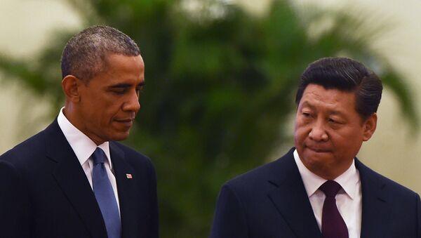 Председник Кине Си Ђинпинг и председник САД Барак Обама - Sputnik Србија