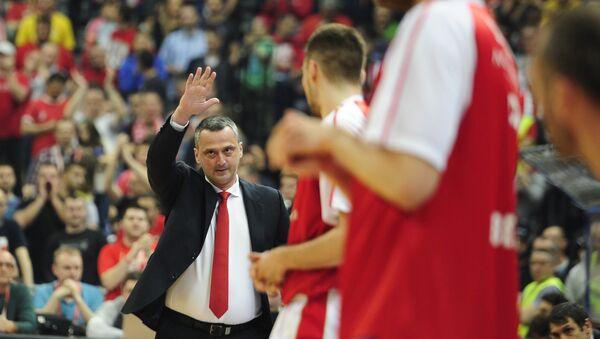 Trener košarkaša Crvene zvezde Dejan Radonjić. - Sputnik Srbija