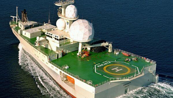 Норвешки брод за надзор Марјата Marjata који наводно прати ситуацију у Баренцовом мору где се налазе руске подморнице - Sputnik Србија