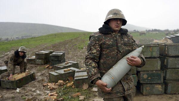 Jermenski vojnici u Nagorno-Karabahu - Sputnik Srbija