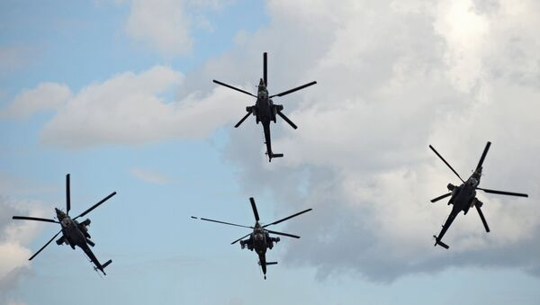Руски хеликоптери Ноћни ловац - Sputnik Србија