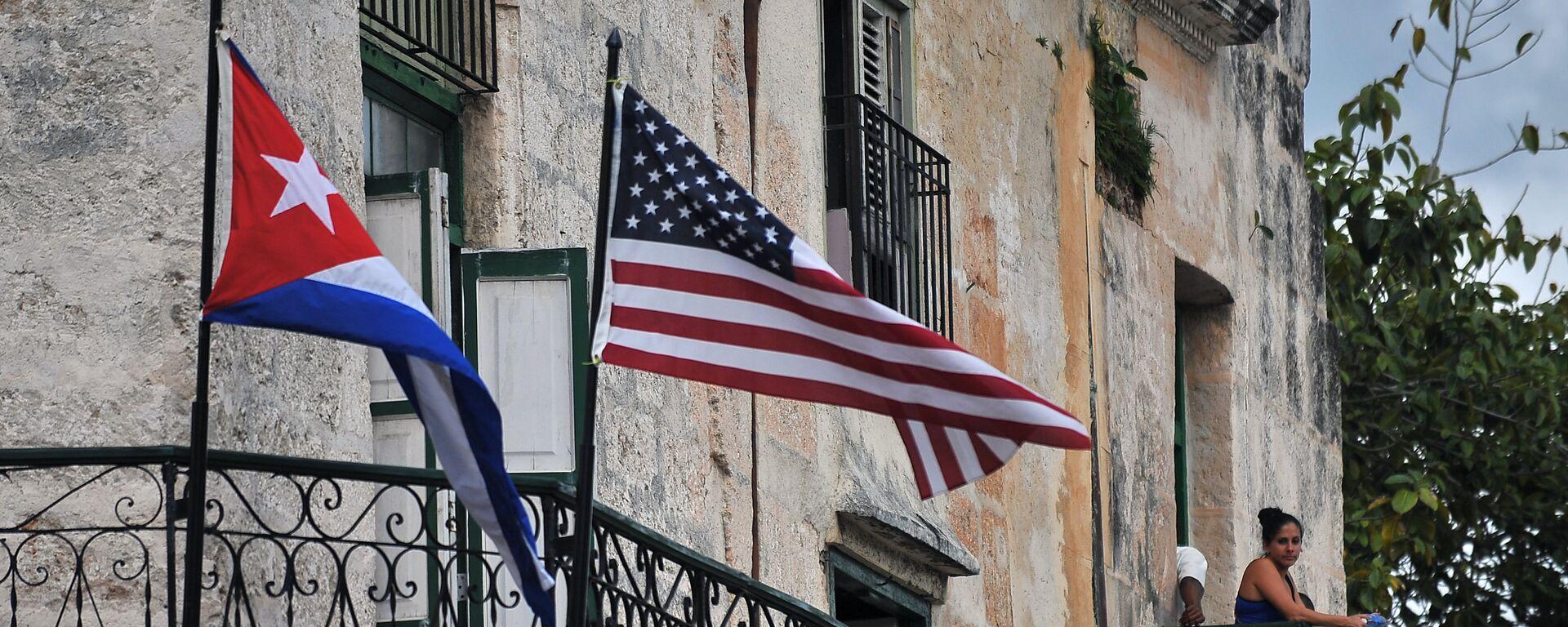 Do pre neki dan nezamislivo: zastave Kube i SAD  vijore se u Havani - Sputnik Srbija, 1920, 22.07.2021