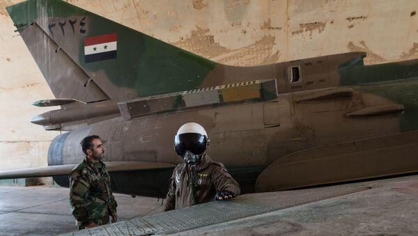 Сиријски авион Су-22 - Sputnik Србија