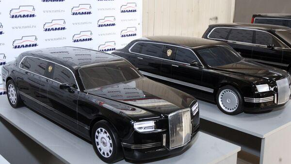 Модели аутомобила дизајнирани у оквиру пројекта Кортеж приказани у Централном научно-истраживачком центру за аутомобиле и моторе - Sputnik Србија