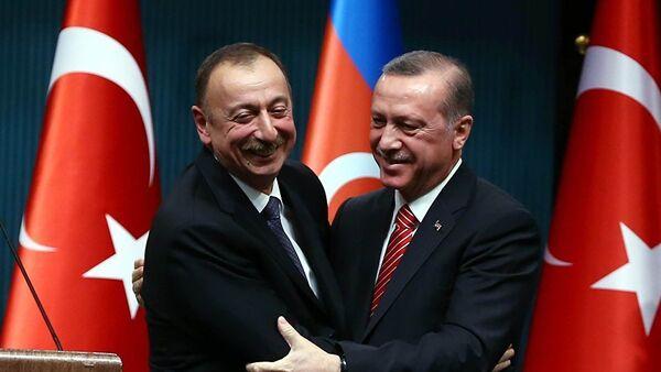 Реџеп Тајип Ердоган и Илхам Алијев - Sputnik Србија
