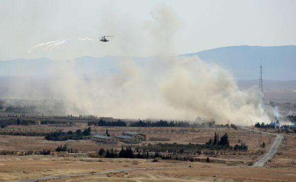 Ruski helikopteri Ka-52 u akciji u Siriji - Sputnik Srbija