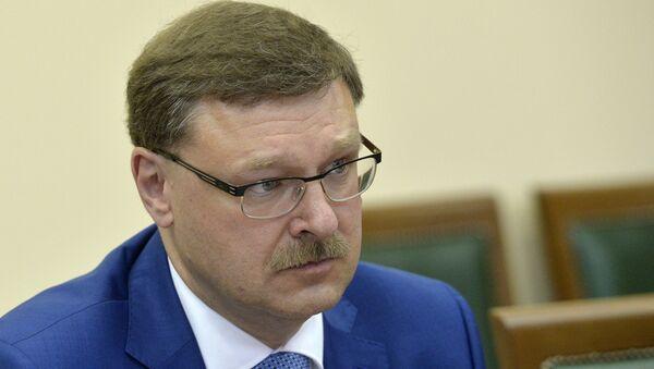 Predsedavajući Komiteta za međunarodne poslove Saveta Federacije Federalne skupštine Ruske Federacije Konstanin Kosačov - Sputnik Srbija