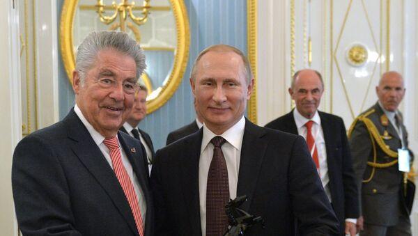 Хајнц Фишер и Владимир Путин - Sputnik Србија