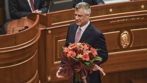 Hašim Tači u Skupštini Kosova - Sputnik Srbija
