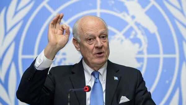 Specijalni izaslanik UN za Siriju Stafan de Mistura u Ženevi - Sputnik Srbija