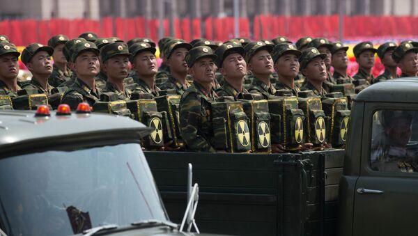 Војна парада у Пјонгјангу, престоници Северне Кореје - Sputnik Србија