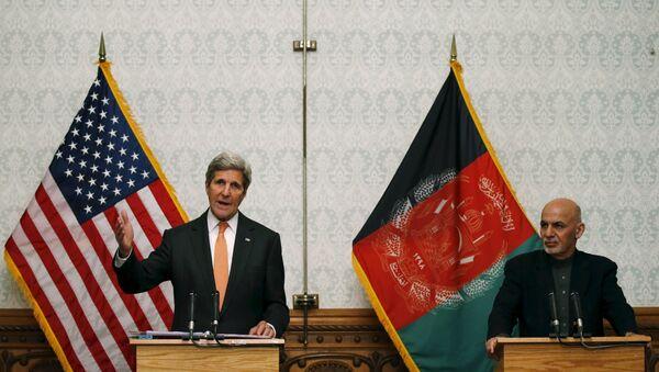 Džon Keri i predsednik Avganistana Ašraf Gani - Sputnik Srbija