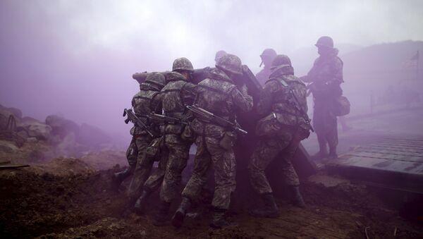 Припадници јужнокорејске армије током здружених вежби САД и Јужне Кореје - Sputnik Србија