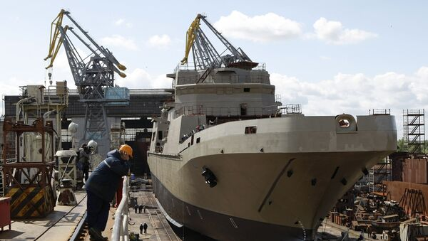 Brod Ivan Gren u brodogradilištu Jantar - Sputnik Srbija