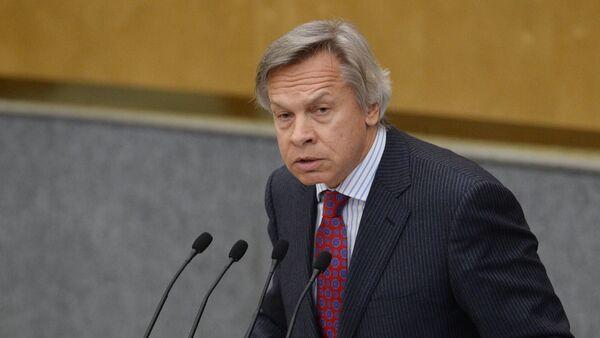 Šef Spoljnopolitičkog odbora ruske Državne dume Aleksej Puškov - Sputnik Srbija
