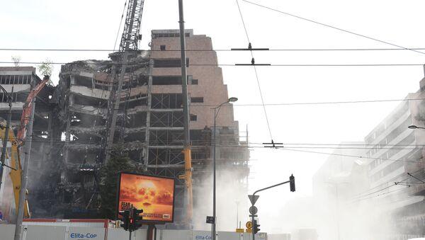 Radovi na rušenju zgrade Generalštaba u Nemanjinoj ulici, Beograd - Sputnik Srbija