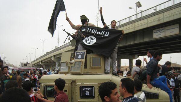 Grupa pripadnika terorističke organizacije DAEŠ u iračkom gradu Faludži - Sputnik Srbija