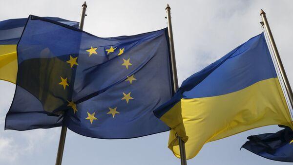 Заставе Украјине и Европске уније - Sputnik Србија
