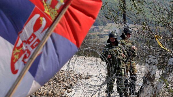 Барикада на граници Србије са Косовом - Sputnik Србија