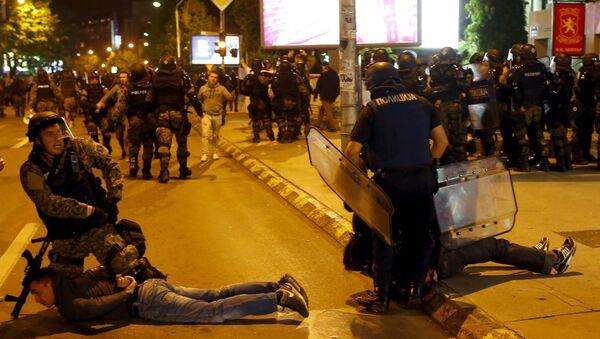 Protest u Skoplju - Sputnik Srbija
