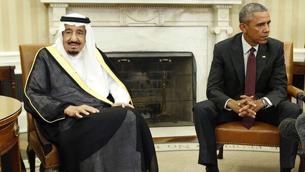 Саудијски краљ Саламан и амерички председник Барак Обама - Sputnik Србија