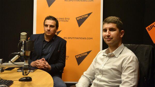 Studenti Zlatko Milošević i Filip Živanović - Sputnik Srbija