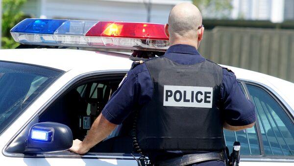Policajac pored policijskog automobila - Sputnik Srbija