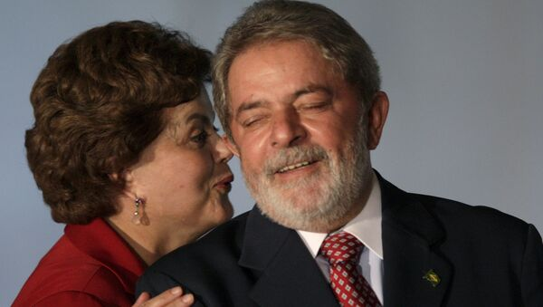 Председница Бразила Дилма Русеф и бивши председник Инасио Лула да Силва - Sputnik Србија