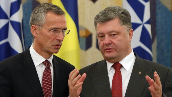 Generalni sekretar NATO-a Jens Stoltenberg i predsednik Ukrajine Petro Porošenko - Sputnik Srbija