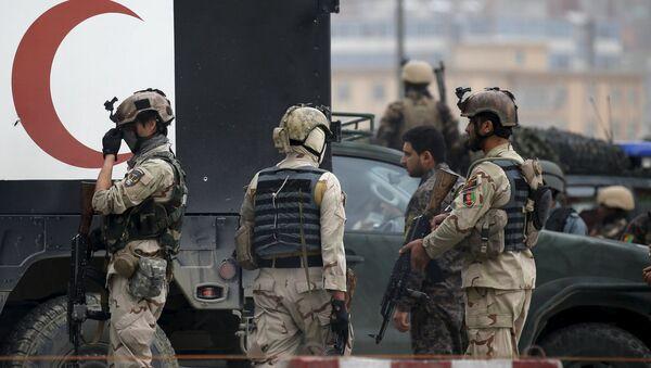 Avganistanske snage za brzo reagovanje stižu na mesto eksplozije automobila-bombe u Kabulu - Sputnik Srbija