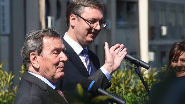 Gerhard Šreder i Aleksandar Vučić - Sputnik Srbija