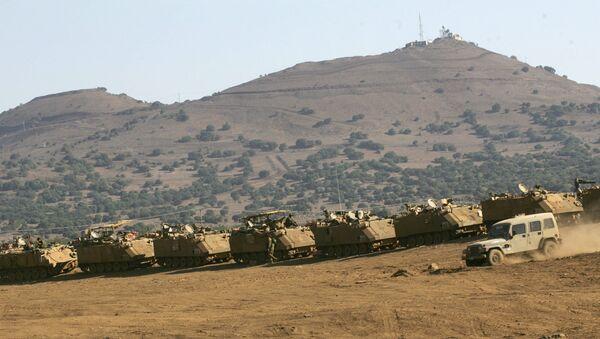 Vojne vežbe Izraela na Golanskoj voisoravni - Sputnik Srbija