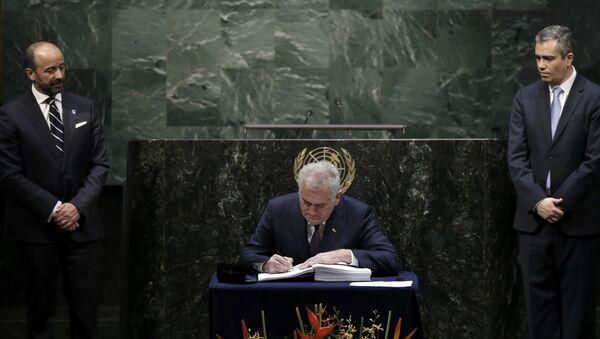 Predsednik Srbije Tomislav Nikolić u UN - Sputnik Srbija