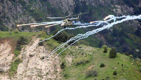 Совместные учения подразделений военной разведки государств-членов ОДКБ Поиск-2016 в Таджикистане - Sputnik Србија