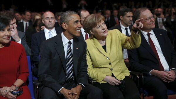 Барак Обама и Ангела Меркел - Sputnik Србија