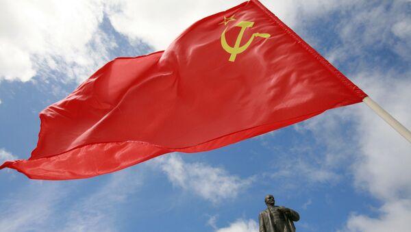 Kineska zastava sa spomenikom Lenjinu u Stavropolju - Sputnik Srbija