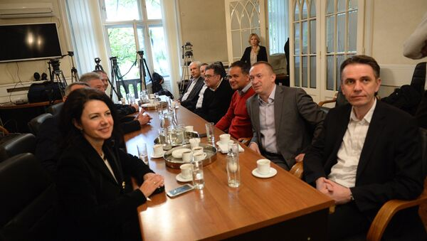 Sastanak opizicinih partija u sedištu DS-a - Sputnik Srbija