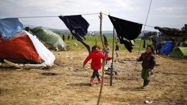 Избеглички камп у Грчкој - Sputnik Србија