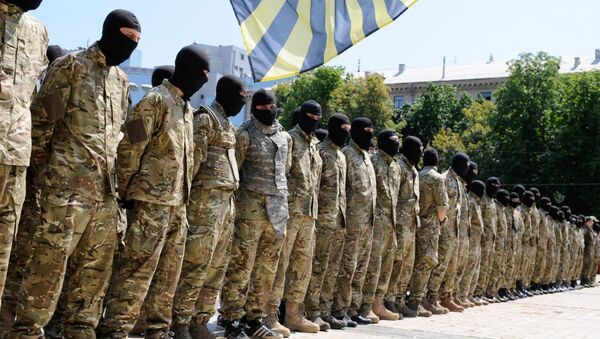 Припадници батаљона Азов - Sputnik Србија