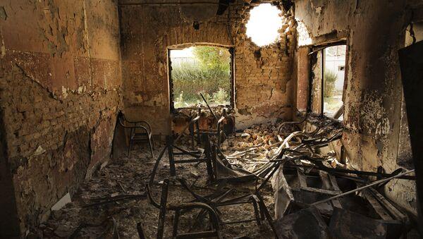 Унутрашњост болнице Лекара без граница у Кундузу на северу Авганистана након бомбардовања - Sputnik Србија