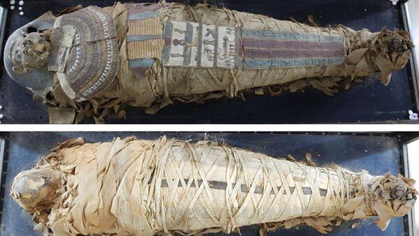Египатска мумија пре третмана - Sputnik Србија