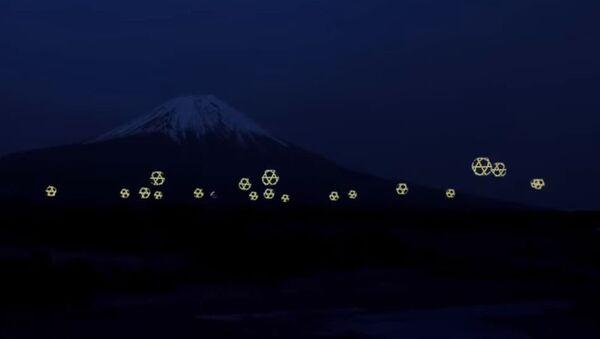 Балет дронова на планини Фуџи у Јапану - Sputnik Србија