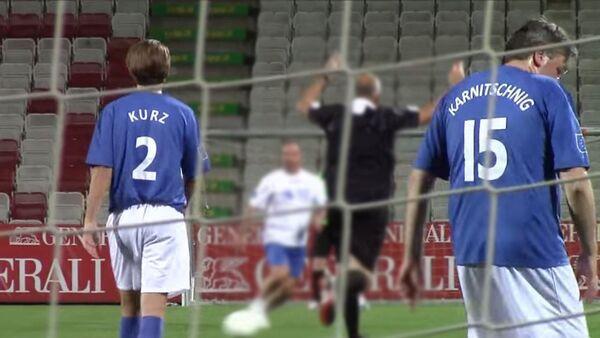 Фудбалски меч између Будућих земаља ЕУ и чланица ЕУ , које су представљали политичари, у Бечу - Sputnik Србија
