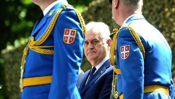 Predsenik Srbije Tomislav Nikolić na proslavi Dana garde vojske Srbije 6. maja 2016 - Sputnik Srbija