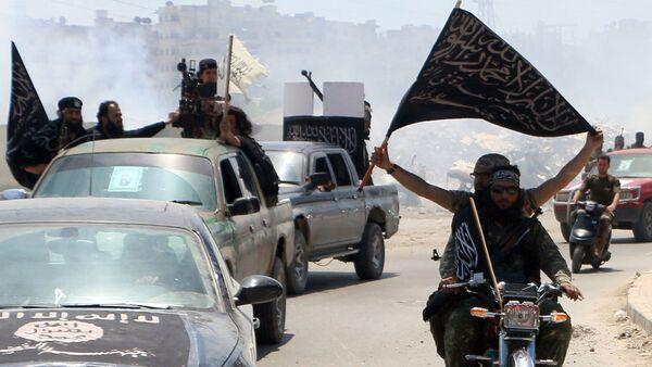 Borci terorističke organizacije Nusra front u Siriji - Sputnik Srbija