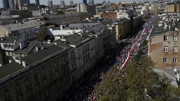 Demonstracije opozicionih partija u Varšavi, prestonici Poljske, - Sputnik Srbija