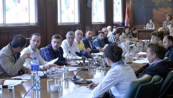 Гласање на седници Републичке изборне комисије - Sputnik Србија