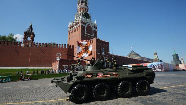 BTR-82A na vojnoj paradi u Moskvi povodom 71. godišnjice pobede u Velikom otadžbinskom ratu, na Dan pobede, 9. maj 2016. - Sputnik Srbija
