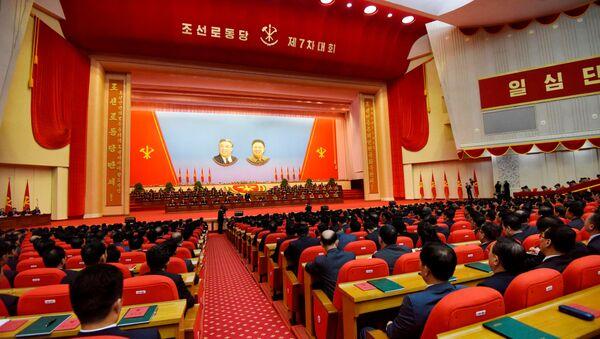 Kongres Radničke partije u Pjongjangu, prestonici Severne Koreje, 9. maj 2016. - Sputnik Srbija