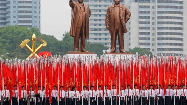 Парада у Пјонгјангу поводом завршетка конгреса Радничке партије - Sputnik Србија